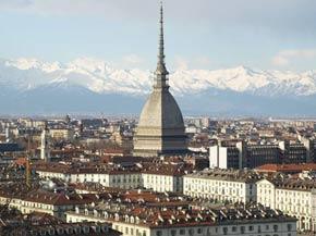 Blick auf Turin und die Mole Antonelliana
