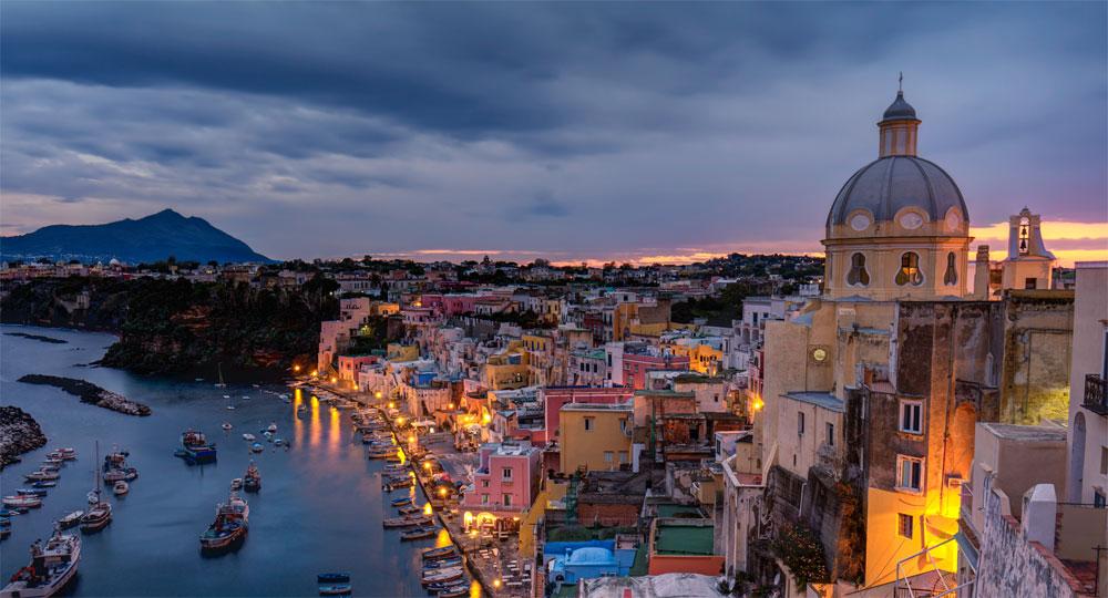 Die Insel Procida in der italienischen Region Kampanien