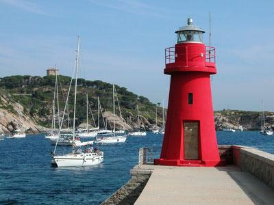 Die Insel Giglio in Italien