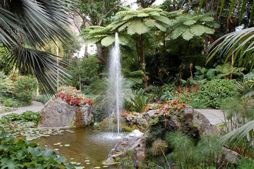 Der Garten La Mortella auf der Insel Ischia