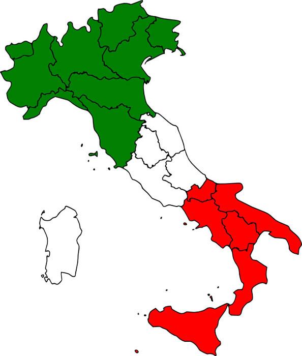 Italien Karte Regionen.Informationen Für Einen Urlaub In Italien